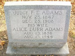 "Judge Francis Erwin ""Frank"" Adams"