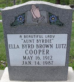 Ella Byrd <I>Brown</I> Cooper