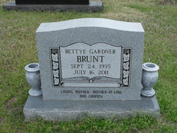 Bettye <I>Gardner</I> Brunt
