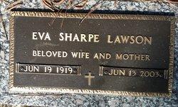 Eva <I>Sharpe</I> Lawson