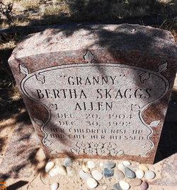 Bertha <I>Skaggs</I> Allen