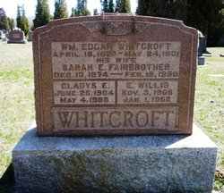Sarah Emma <I>Fairbrother</I> Whitcroft