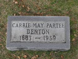 Carrie May <I>Partee</I> Denton