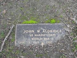 John W Aldridge