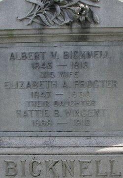 Elizabeth A. <I>Procter</I> Bicknell