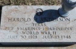 Harold H Anderson