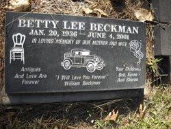 Betty Lee <I>McCowan</I> Beckman