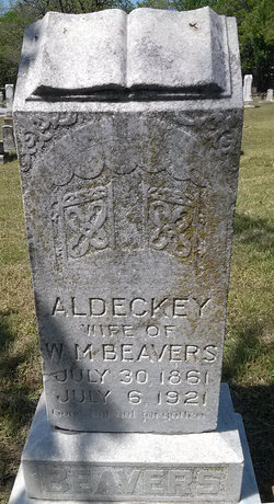 Aldeckey Caroline <I>Daugherty</I> Beavers