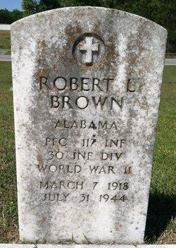 PFC Robert L Brown