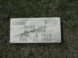 Mary <I>Orr</I> McArthur