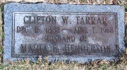 Clifton W Farrar