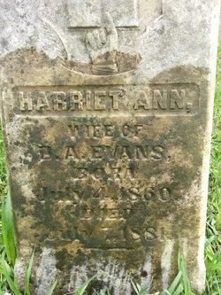Harriet Ann <I>Jones</I> Evans
