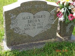 Alice <I>Roberts</I> Brown