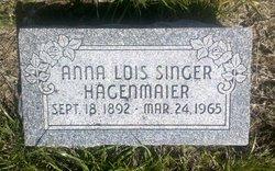 Anna Lois <I>Singer</I> Hagenmaier