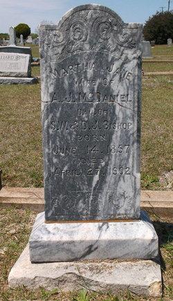 Martha Jane <I>Bishop</I> McDaniel