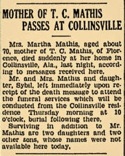 Mrs Myrtle Mary Mathis