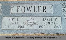 Hazel Pauline <I>Green</I> Fowler
