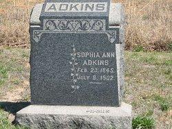 Sophia Ann <I>Bailey</I> Adkins