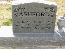 Marilyn G. <I>Bull</I> Ashford