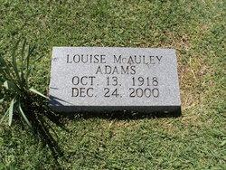 Louise <I>McAuley</I> Adams