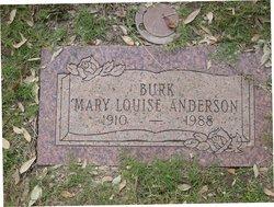 Mary Louise <I>Anderson</I> Burk