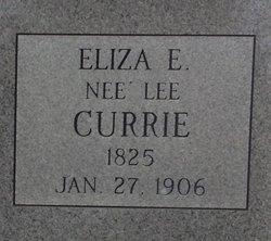 Eliza E. <I>Lee</I> Currie
