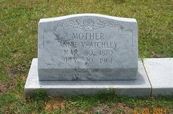 Annie Victoria(Viola) <I>Daugherty</I> Atchley