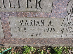 Marian A. <I>Marchant</I> Schriefer