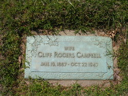 """Carrie Clifford """"Cliff"""" <I>Rogers</I> Campbell"""
