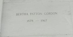 Bertha <I>Patton</I> Gordon