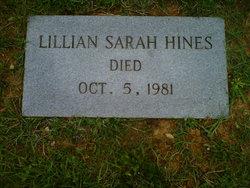 Lillian Sarah Hines