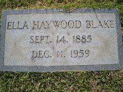 Ella <I>Haywood</I> Blake
