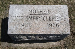 Elizabeth Dorothy Lyle <I>Empey</I> Clement