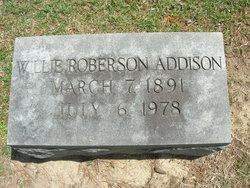 Willie B <I>Roberson</I> Addison