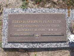 Fred Harrison Platts, Sr