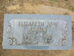 Elizabeth Ann <I>Sinclair</I> Adams