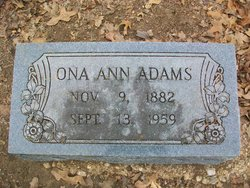 Ona Ann <I>Pogue</I> Adams