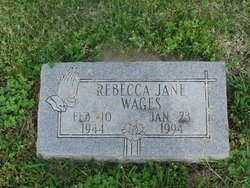 Rebecca  Becky Jane Wages