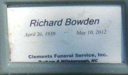 Richard Bowden 1939 2012 Find A Grave Memorial