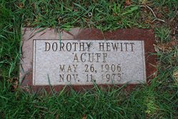 Dorothy <I>Hewitt</I> Acuff