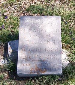 Elizabeth H <I>Hendricks</I> Benn
