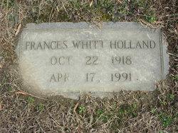 Rebecca Frances <I>Whitt</I> Holland