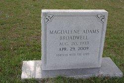 Magdalene <I>Adams</I> Broadwell