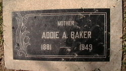Addie A. <I>Johnson</I> Baker