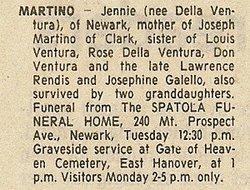 Jennie <I>Ventura</I> Martino