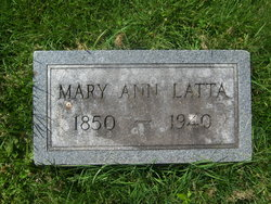 Mary Ann <I>Dillon</I> Latta