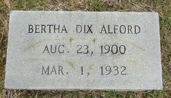 Bertha <I>Dix</I> Alford