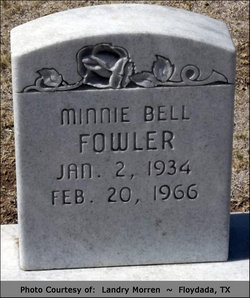 Minnie Bell Fowler