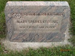 Elizabeth Mary <I>Sparks</I> Keeling