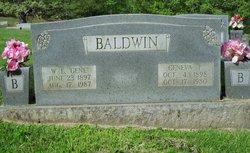 Florence Geneva <I>Parrish</I> Baldwin